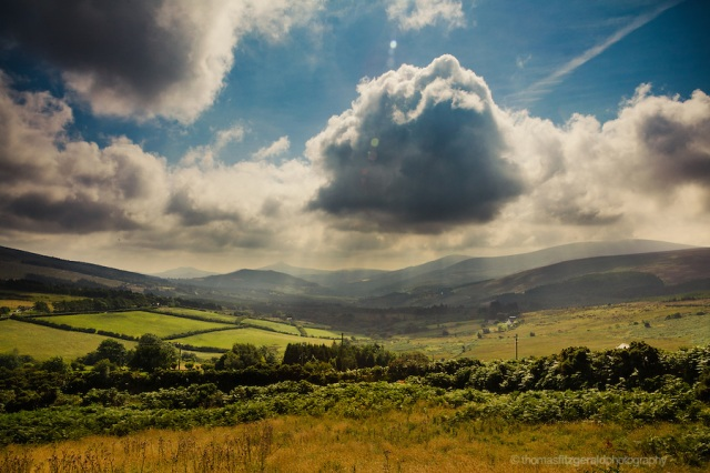 Wicklow Mountains Valley And Clouds